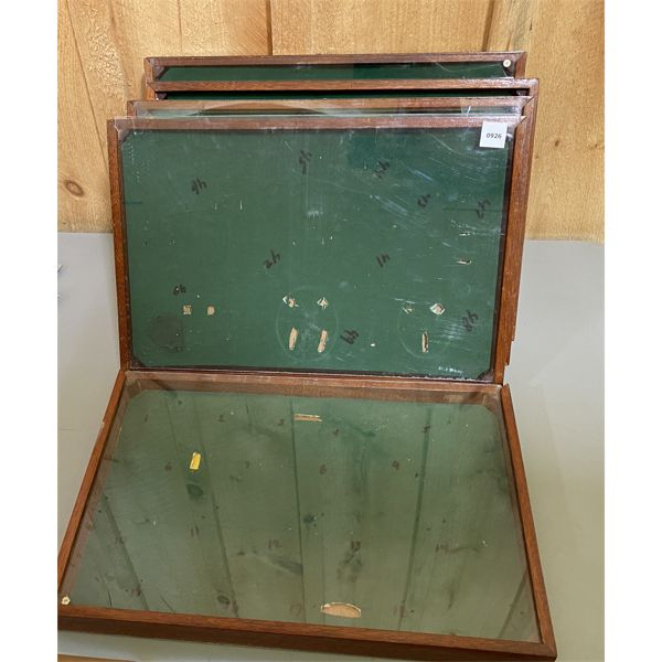 LOT OF 5 - DISPLAY CASES - 12 X 18 INCHES