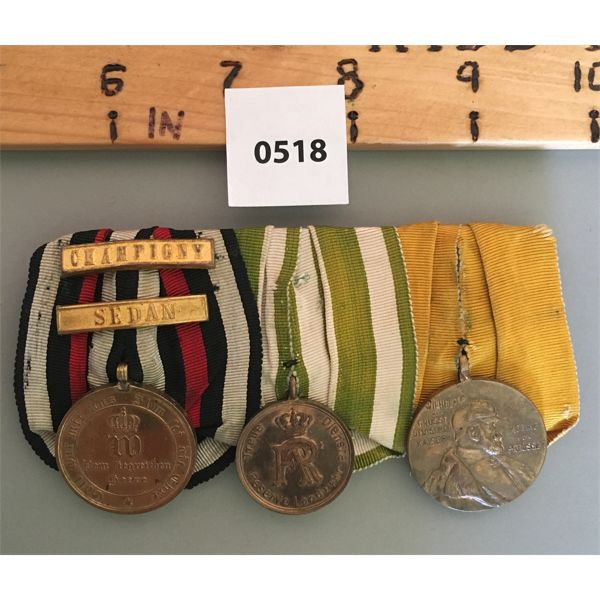 LOT OF 3 - SAXONY MEDALS - WWI - SCARCE