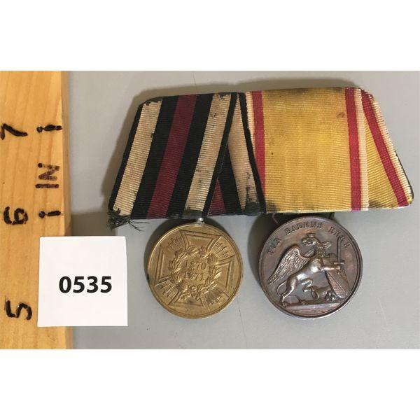 2 MEDAL BAR SET - 1870 / 1871 - PRUSSIAN