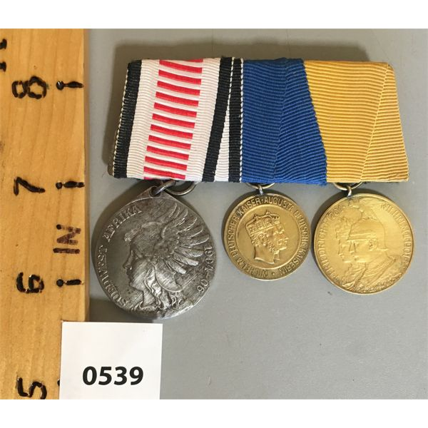 3 BAR SET - IMPERIAL GERMANY - COLONIAL MEDALS - 1904-06 & 1879