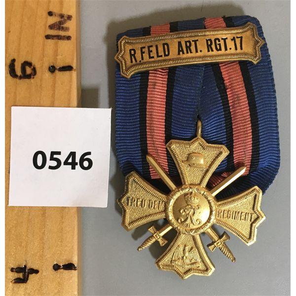 FEILD ARTILLARY REGIMENT 17 MEDAL - OLENBURG - BRUNSWICK