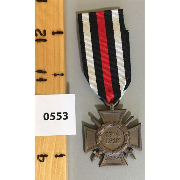 WWI 1914 - 1913 SERVICE MEDAL - THIRD REICH