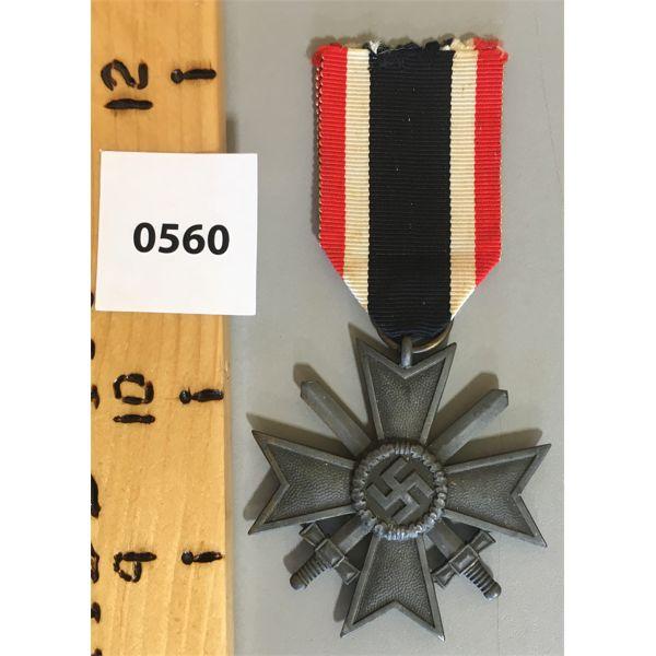 WWII NAZI GERMANY SERVICE MEDAL - 2ND CLASS WAR MERIT CROSS