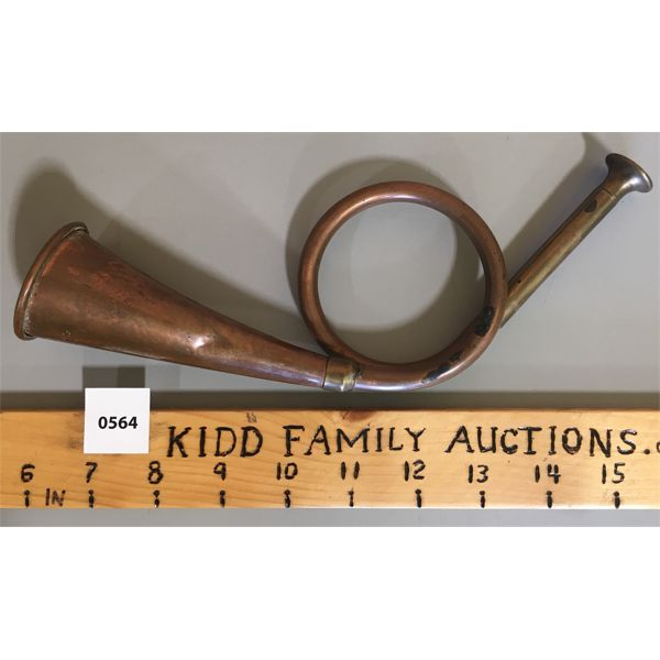 BRASS & COPPER HORN - MADE IN ENGLAND - 9.5 INCHES