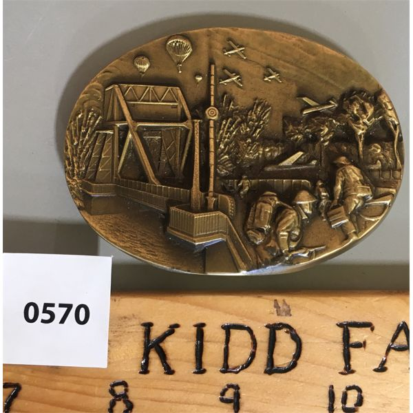 D-DAY COMMEMORATIVE PAPER WEIGHT - .5 LB BRASS