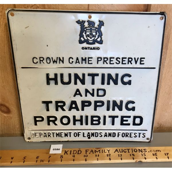 CROWN GAM PRESSERVE METAL SIGN - 12 X 12 INCHES