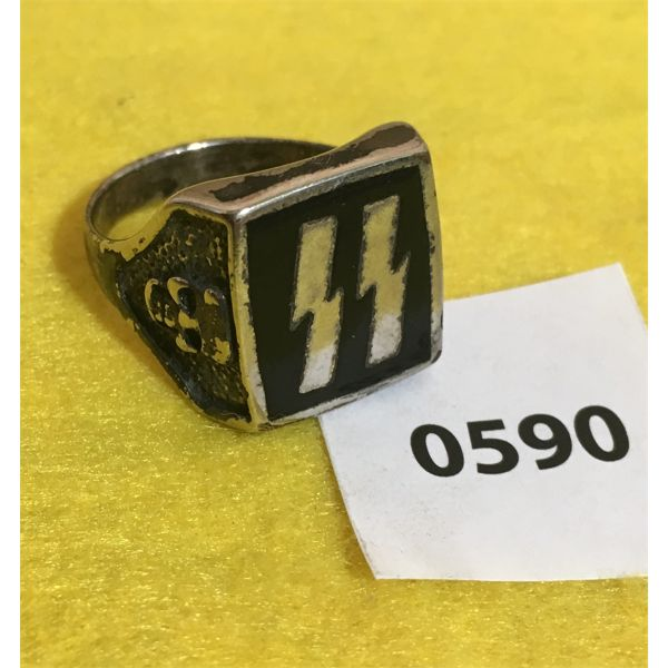 SS INSIGNIA RING MARKED G&S  - 11 SZ