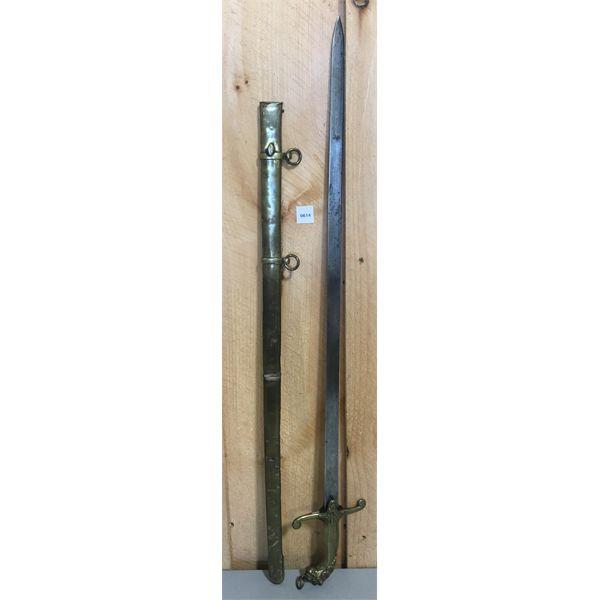 BANDSMAN'S SWORD WITH SCABBARD - CIRCA 1825 - 1850