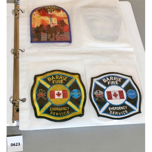 BINDER OF ONTARIO FIRE DEPARTMENT PATCHES