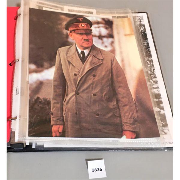 BINDER OF PHOTOS OF MILITARY INTEREST- GERMAN/ NAZI