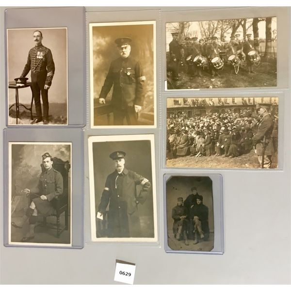 7X MILITARY POSTCARDS & PICTURES
