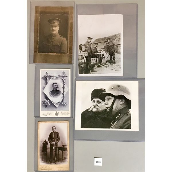 5X MILITARY PRINTS- INCL FINNISH PRESIDENT AT THE FRONT