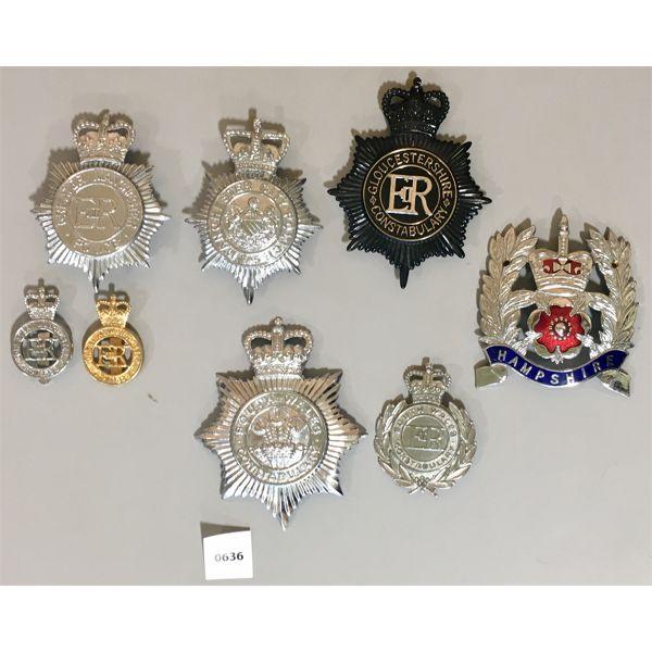 8X BRITISH POLICE INSIGNIA