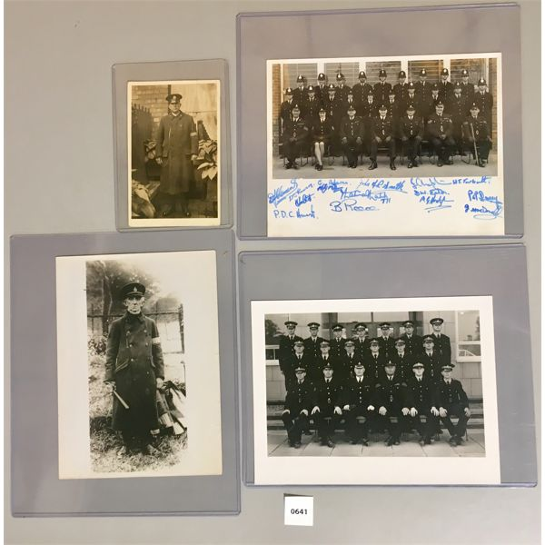 4X POLICE PICTURES- INCL STAFFORDSHIRE POLICE & WW1 ERA METRO CST