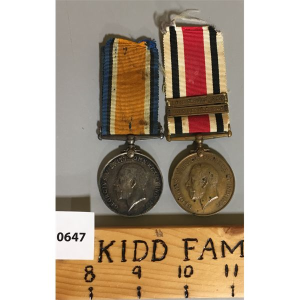 LOT OF 2 - WWII MEDALS - PTE WM HUME S-16522
