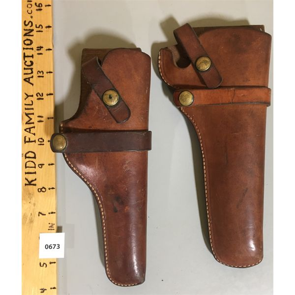 LOT OF 2 - HUNTERS LEATHER HOLSTERS