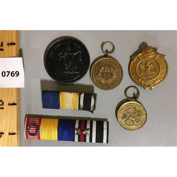 LOT OF 6 - GERMAN BARS & MEDALS - COMMEMORITIVES