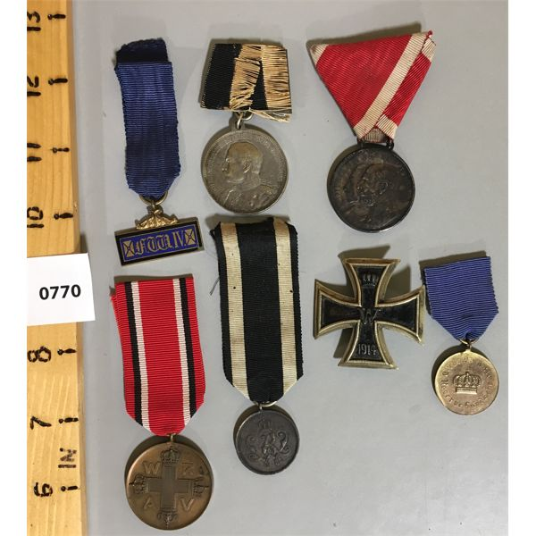 LOT OF 7 - MISC GERMAN MEDALS