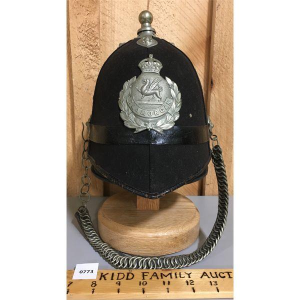 GLAMOORGAN CONSTABULARY POLICE HELMET - WALES  CIRA 1960