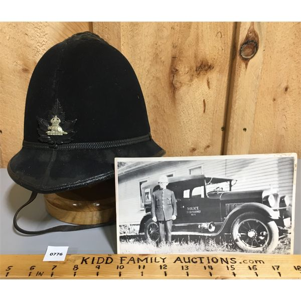 ST CATHERINE'S ONTARIO POLICE HELMET - CIRCA 1920