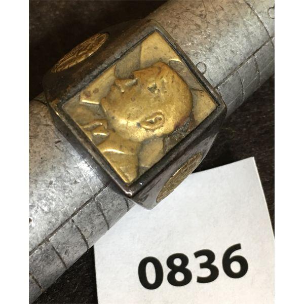 NAZI GERMANY SZ 9.5 RING - MARKED 800