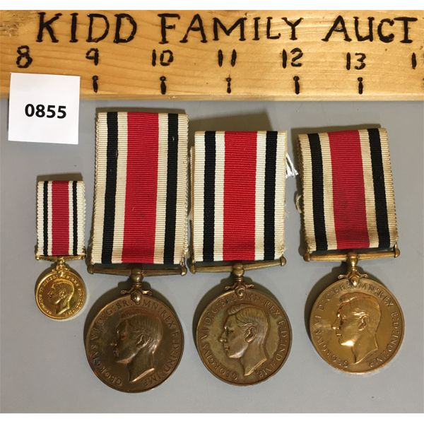 LOT OF 4 - FAITHFUL SERVICE IN SPECIAL CONSTABULARY MEDALS