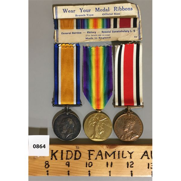 LOT OF 3 - WWI MEDALS - SPR. WA GOWER R.E.