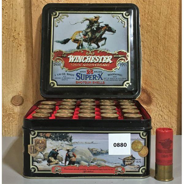 WINCHESTER COLLECTIBLE TIN - 25 X 12 GA 6 SHOT