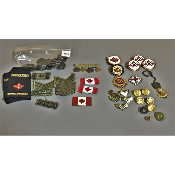 JOB LOT - CND BADGES, PINS, BUTTONS, ETC - MILITARY THEME