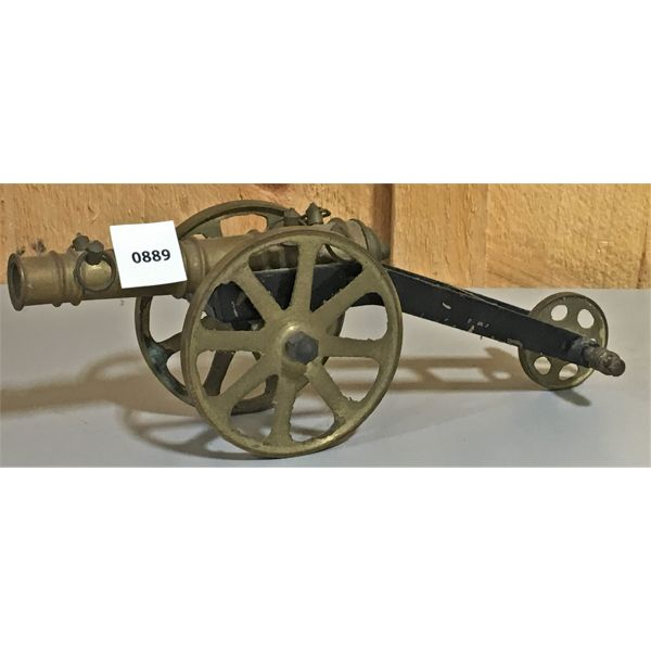 BRASS CANNON - 6 INCH BARREL - NO TOUCH HOLE