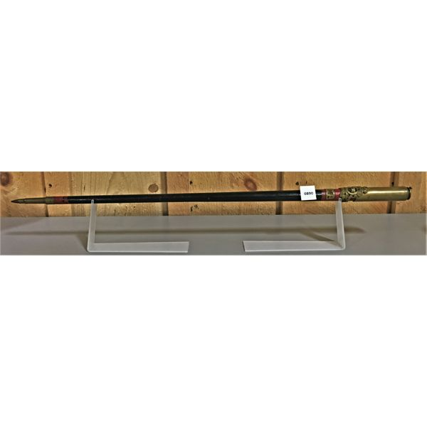TRENCH ART - CANE W/ 20 MM CASING - 27 INCHES