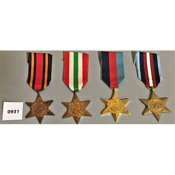 LOT OF 4 - WWII VETERANS MEDALS