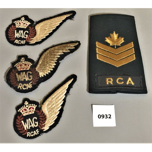 LOT OF 4 -RCAF WINGS