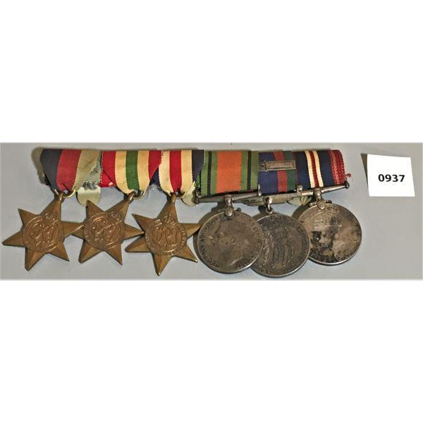6 MEDAL BAR SET - CND WWII