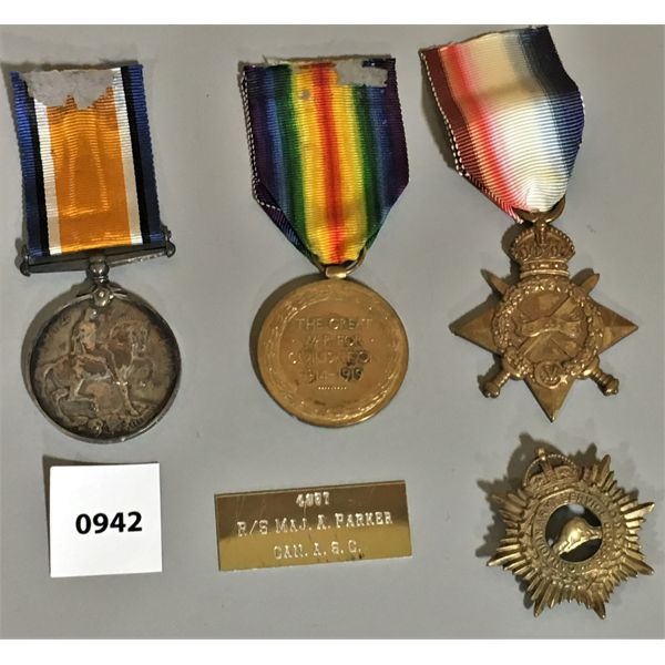 LOT OF 4 - WWI SERVICE MEDALS
