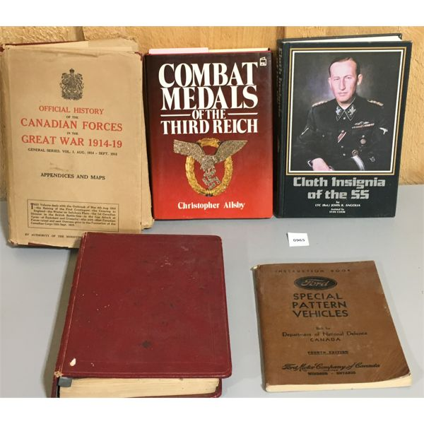 LOT OF 5 - MILITARY REFERENCE BOOKS
