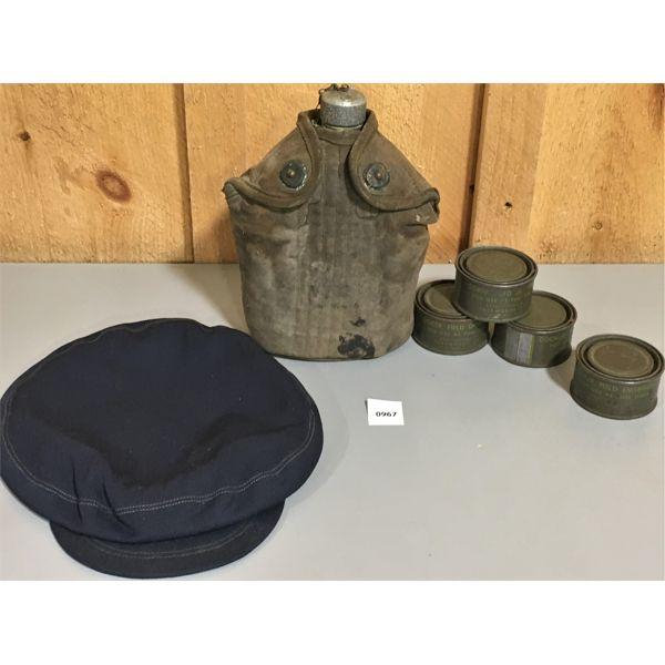 JOB LOT - CANTEEN, COOK FUEL, JAPANESE SCHOOL CAP