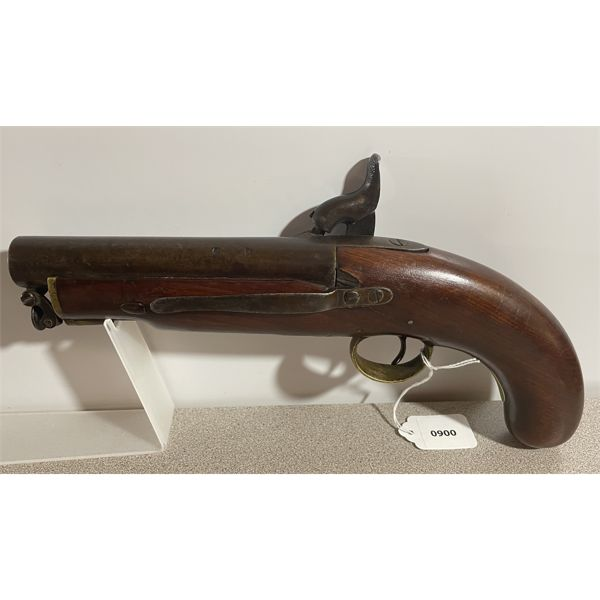 VR (?) PERCUSSION PISTOL IN APPROX .75 CAL - ANTIQUE CLASS