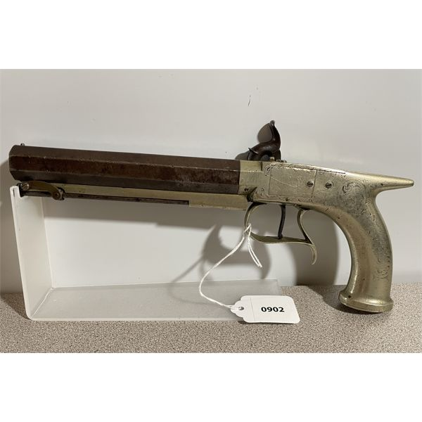BRITISH DUELLING PISTOL IN APPROX .45 PERC - ANTIQUE CLASS