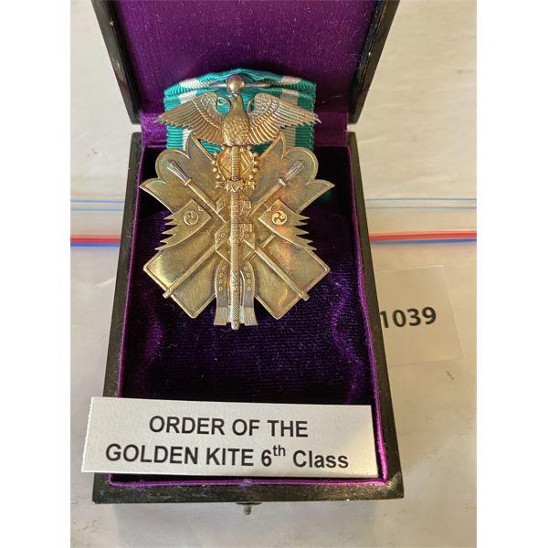 IMPERIAL JAPAN - ORDER OF THE GOLDEN KITE - 6TH CLASS MEDAL W/ PRSENTATION CASE