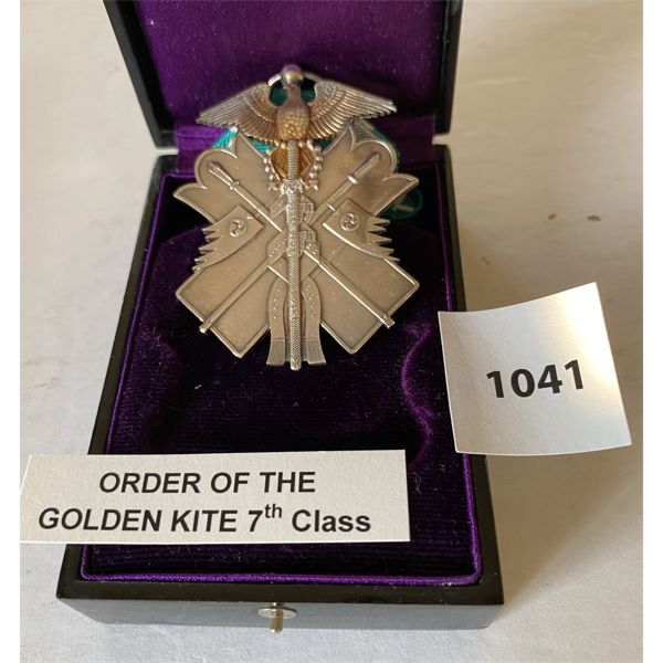 IMPERIAL JAPAN - ORDER OF THE GOLDEN KITE - 7TH CLASS MEDAL IN PRESENTATION CASE