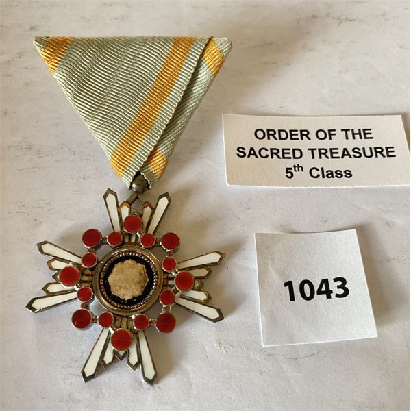 IMPERIAL JAPAN - ORDER OF THE SACRED TREASURE - 5TH CLASS MEDAL