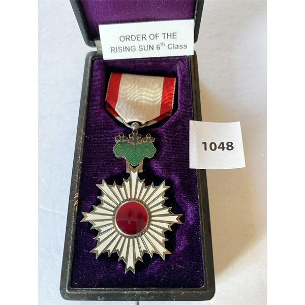 IMPERIAL JAPAN - ORDER OF THE RISING SUN - 6TH CLASS MEDAL IN PRESENTATION CASE
