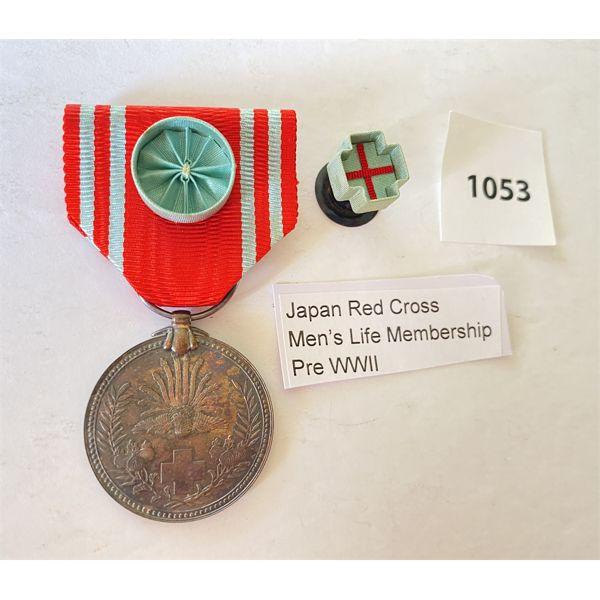 PRE WWII - JAPAN RED CROSS MEN'S LIFE TIME MEMBERSHIP MEDAL