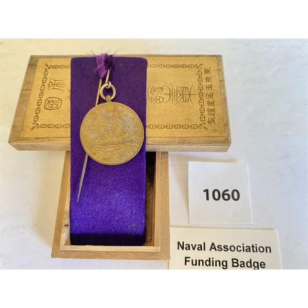 NAVAL ASSOCIATION FUNDING BADGE - JAPAN