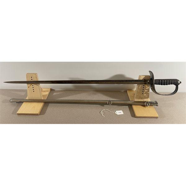 PATTERN 1895 BRITISH INFANTRY OFFICER SWORD W/ METAL SCABBARD