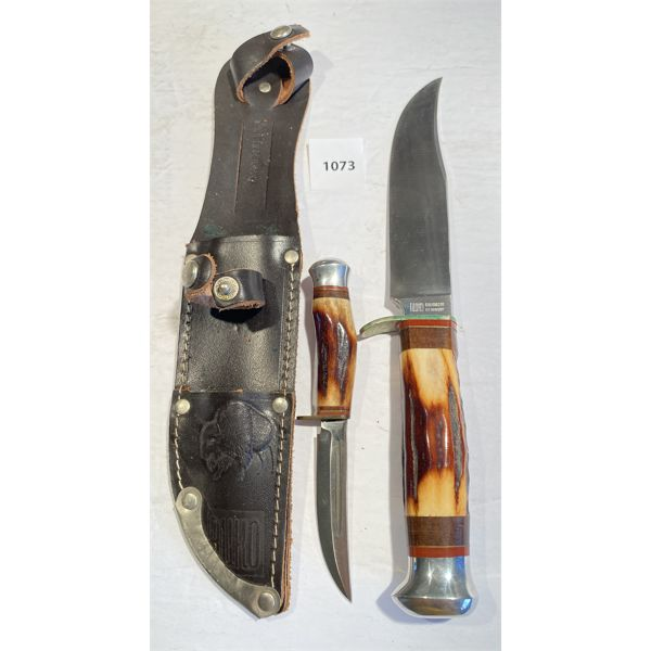 RUKO DOUBLE KNIFE SET W/ SHEATH - GERMANY - 3 & 5 INCH BLADES