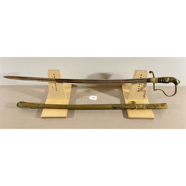 IMPERIAL GERMAN OFFICER'S PARADE SWORD, MADE FOR TURKEY C. 1914; W/ BRASS SCABBARD