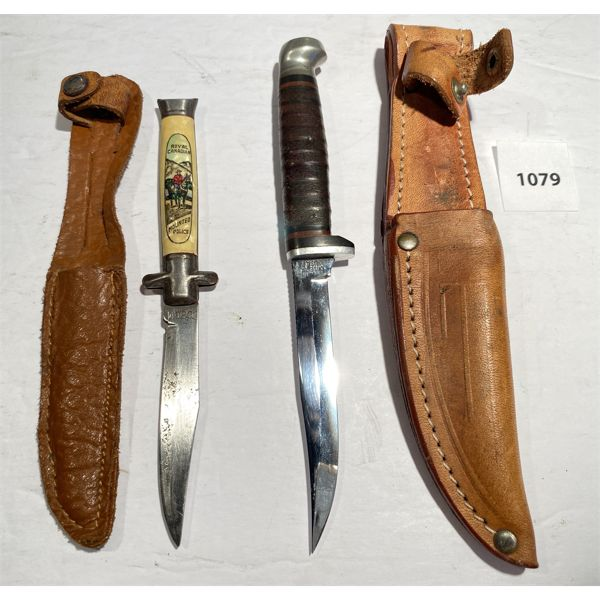 LOT OF 2 - MINI KNIVES - 3 INCH BLADES - RCMP COMMEMORITIVE & GERMAN