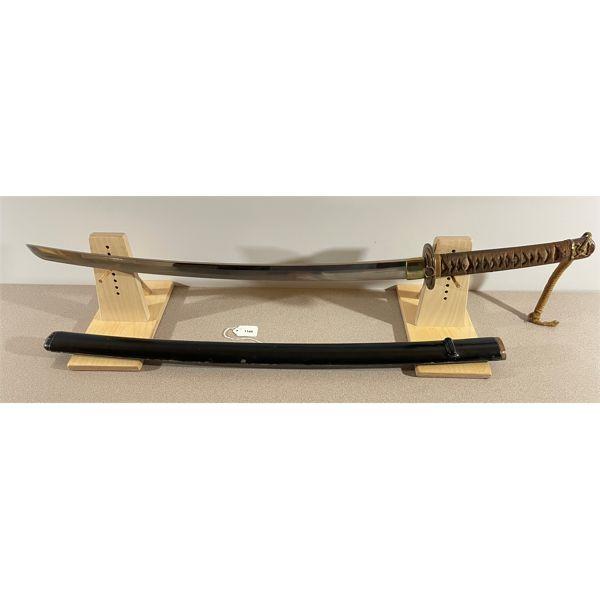 JAPAN - KAI-GUNTO SWORD EARLY 1930S W/ WOODEN SCABBARD